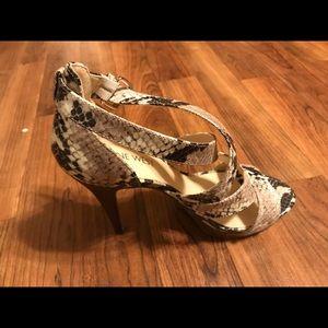 Nine West snakeprint dress shoes